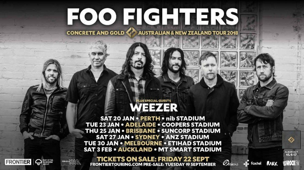 image for article Foo Fighters and Weezer Announce 2018 Tour Dates in Australia and New Zealand: Ticket On-Sale Info