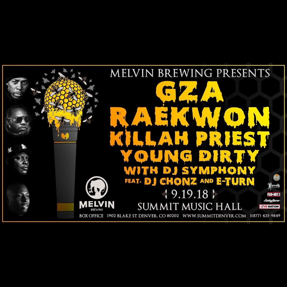 image for event GZA, RAEKWON, KILLAH PRIEST, and YOUNG DIRTY BASTARD