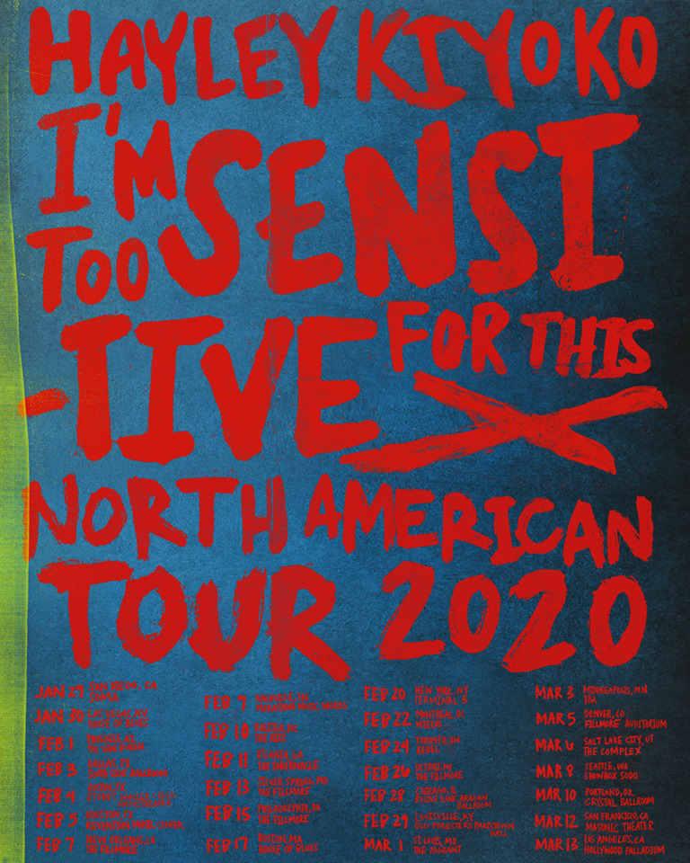 Warp Tour 2020.Hayley Kiyoko 2020 Tour Tour 2020 Infiniteradio