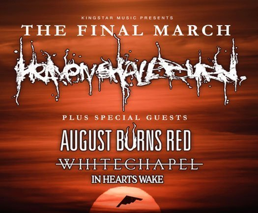 image for event Heaven Shall Burn, August Burns Red, Whitechapel, and In Hearts Wake