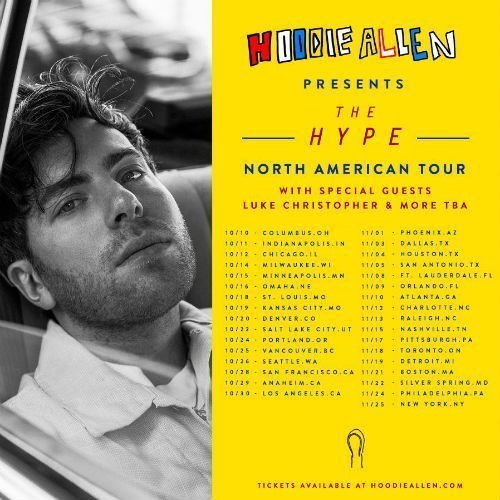 image for article Hoodie Allen Sets 2017 'The Hype' World Tour Dates: Ticket Presale Code & On-Sale Info