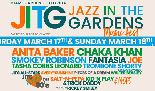 image for event Jazz In The Gardens Festival 2018