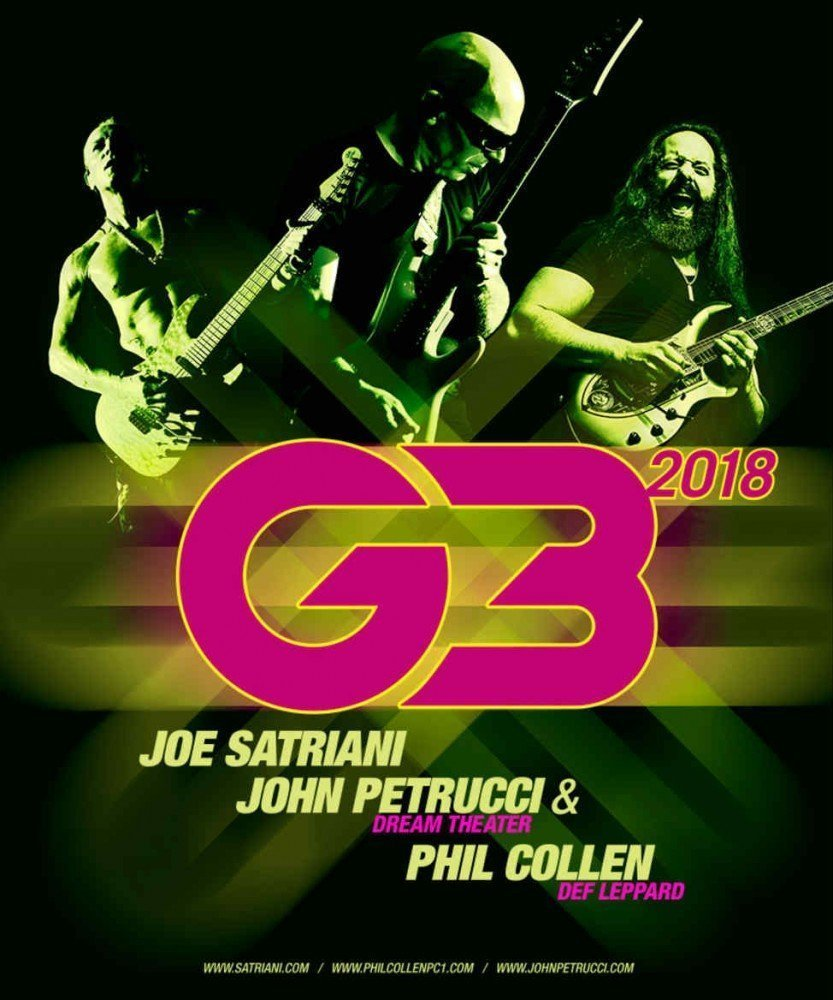 image for article Joe Satriani Announces 2018 'G3' Tour With John Petrucci and Phil Collen: Ticket Presale Code & On-Sale Info