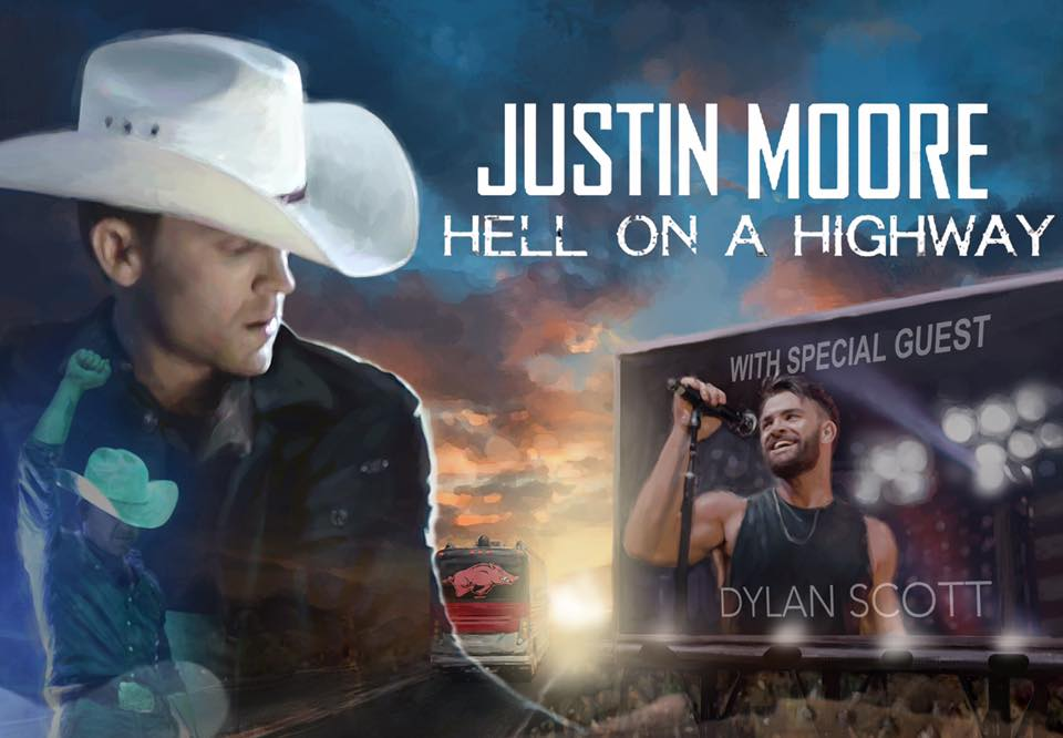 image for article Justin Moore Plots 2017-2018 'Hell On A Highway' Tour Dates: Ticket Pre-Sale Code & On-Sale Info