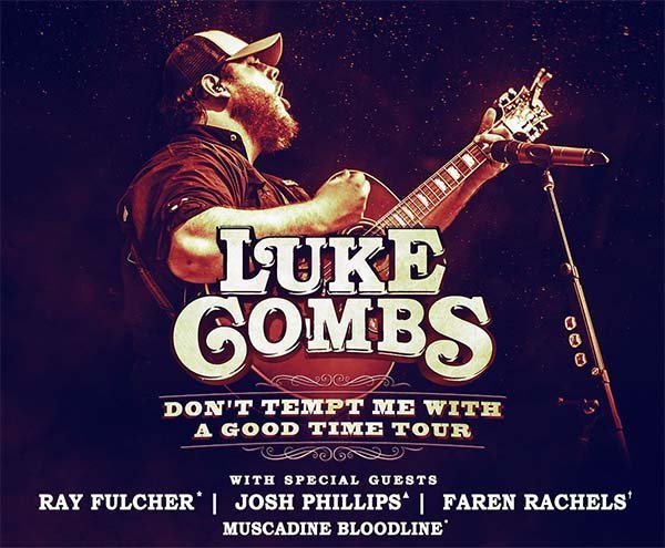 image for event Luke Combs, Ray Fulcher, and Josh Phillips