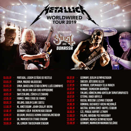 Metallica Add 2018-2019 Tour Dates: Ticket Presale Code & On