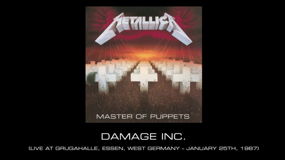 "image for article ""Damage, Inc."" - Metallica in Essen, West Germany on January 25, 1987 [YouTube Audio Single]"