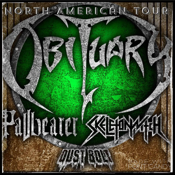 image for event Obituary, Pallbearer, Skeletonwitch, and Dust Bolt