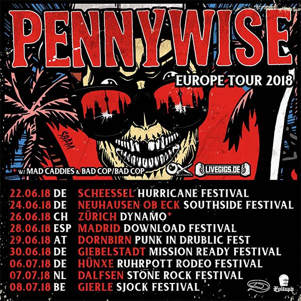 image for event Pennywise, Sick of it All, and A Wilhelm Scream