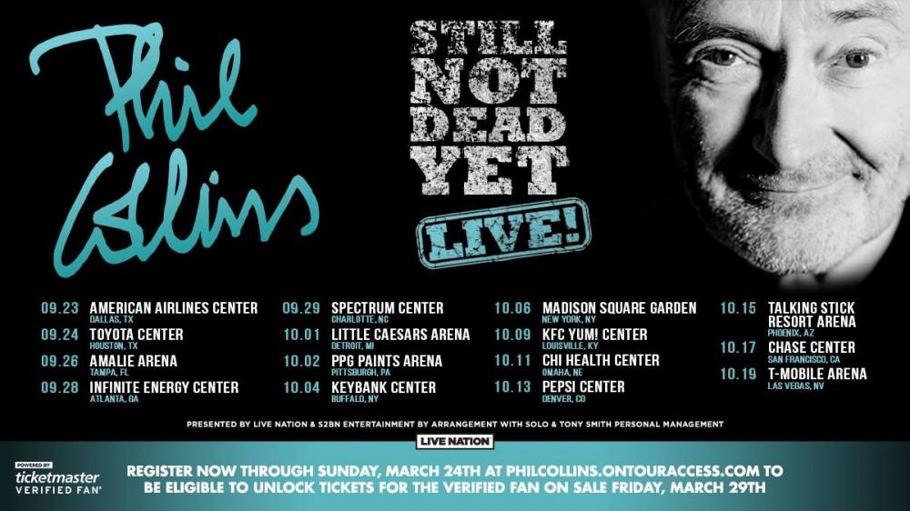 Phil Collins Adds 2019 Tour Dates: Ticket Presale & On-Sale