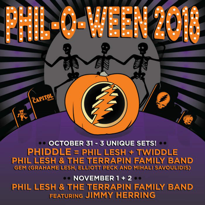 image for article Phil Lesh Plots 2018 PHIL-O-WEEN Tour Dates: Ticket Presale & On-Sale Info