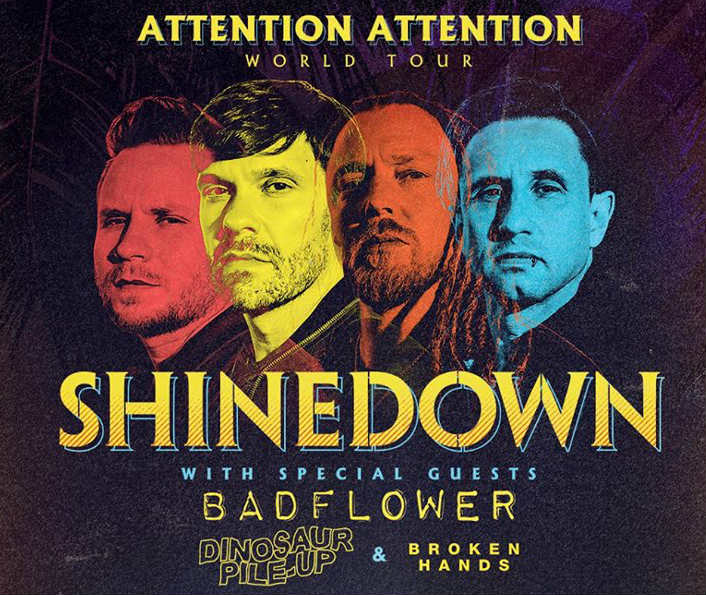 image for article Shinedown Adds 2019 Tour Dates: Ticket Presale Code & On-Sale Info