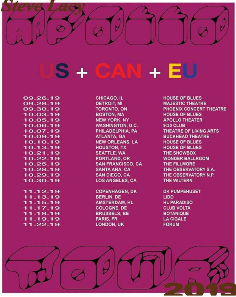 64183931e1b31 Steve Lacy Plots 2019 Tour Dates: Ticket Presale Code & On-Sale Info ...