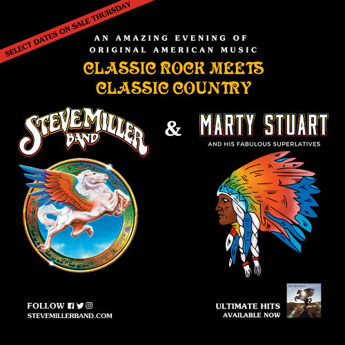 image for event Steve Miller Band and Marty Stuart