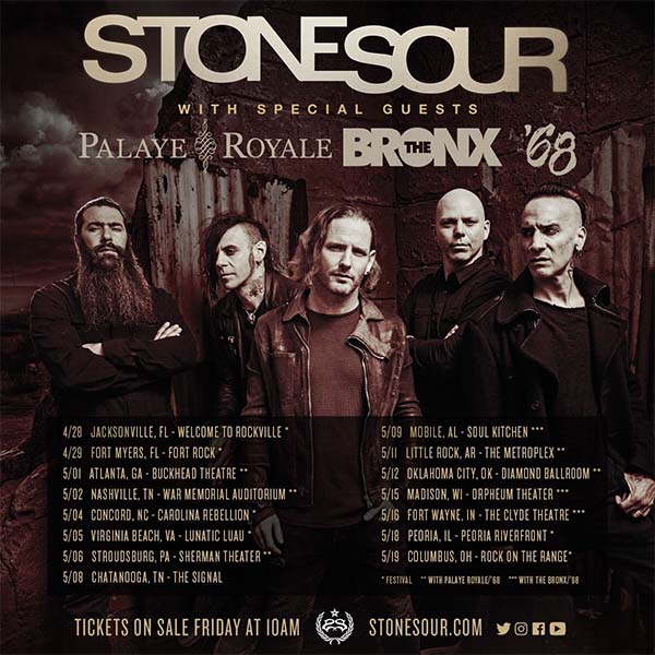 image for event Stone Sour, The Bronx, and '68