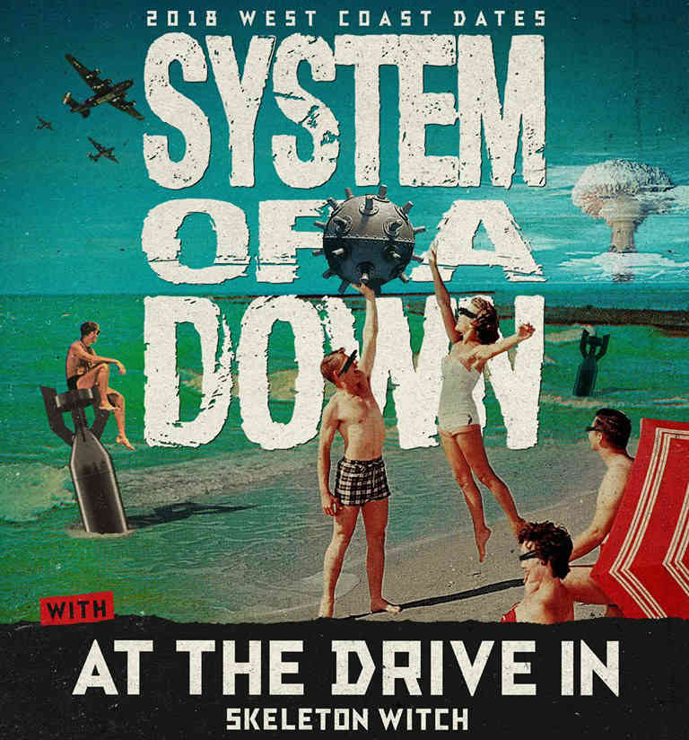 image for event System of a Down, At the Drive-In, and Skeletonwitch
