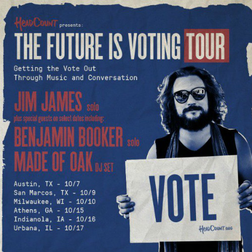 "image for article Jim James Gets Political with ""The Future Is Voting"" 2018 Tour Dates"