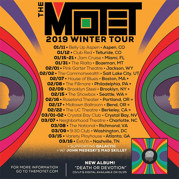 image for event Beats Antique, The Motet, and John Medeski's Mad Skillet