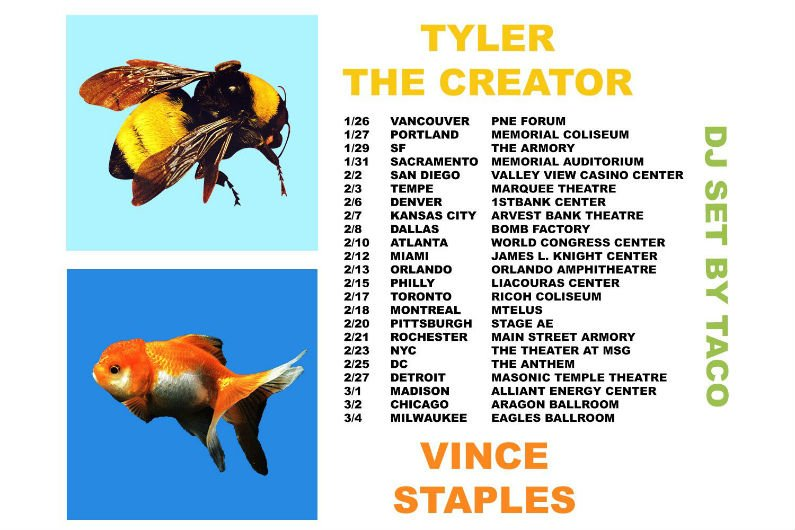 image for article Tyler, The Creator & Vince Staples Reveal 2018 Tour Dates: Ticket Presale Code & On-Sale Info