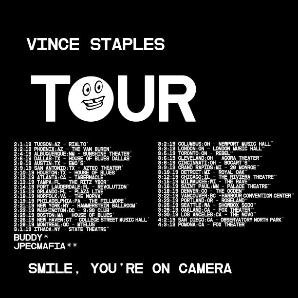 image for article Vince Staples Plots 2019 Tour Dates: Ticket Presale Code & On-Sale Info