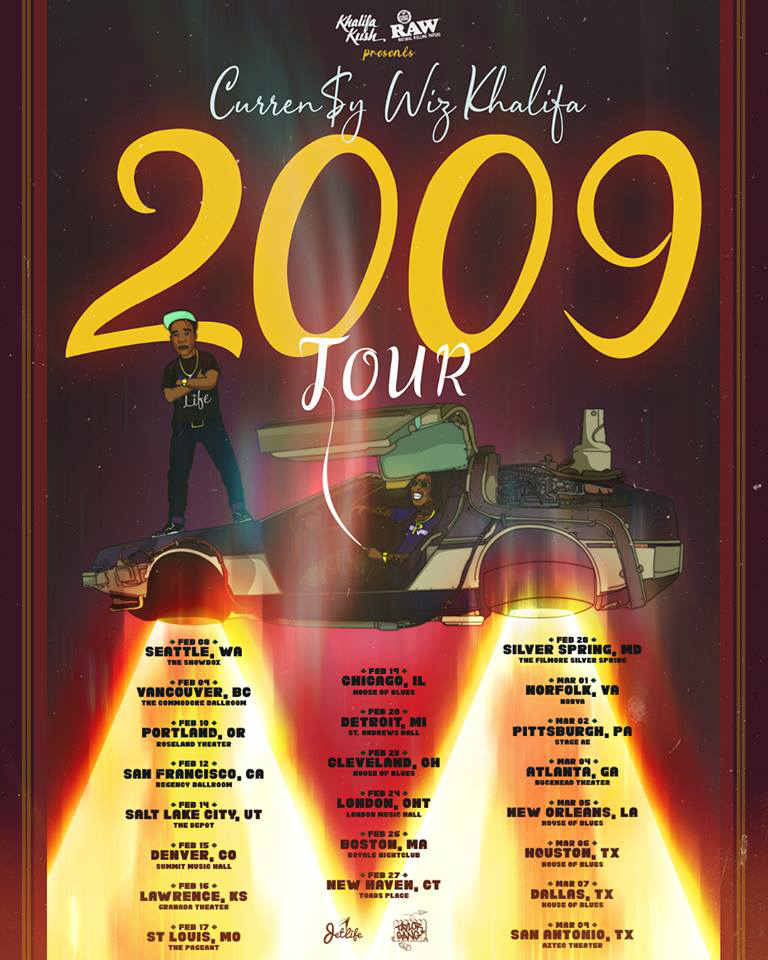 Wiz Khalifa And Curren$y Plot 2019 Tour Dates: Ticket